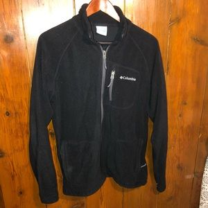Black Columbia Fleece Zip Up Jacket